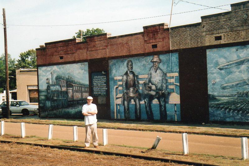 Fabrizio Poggi murales Train Station Tutwiler, Mississippi