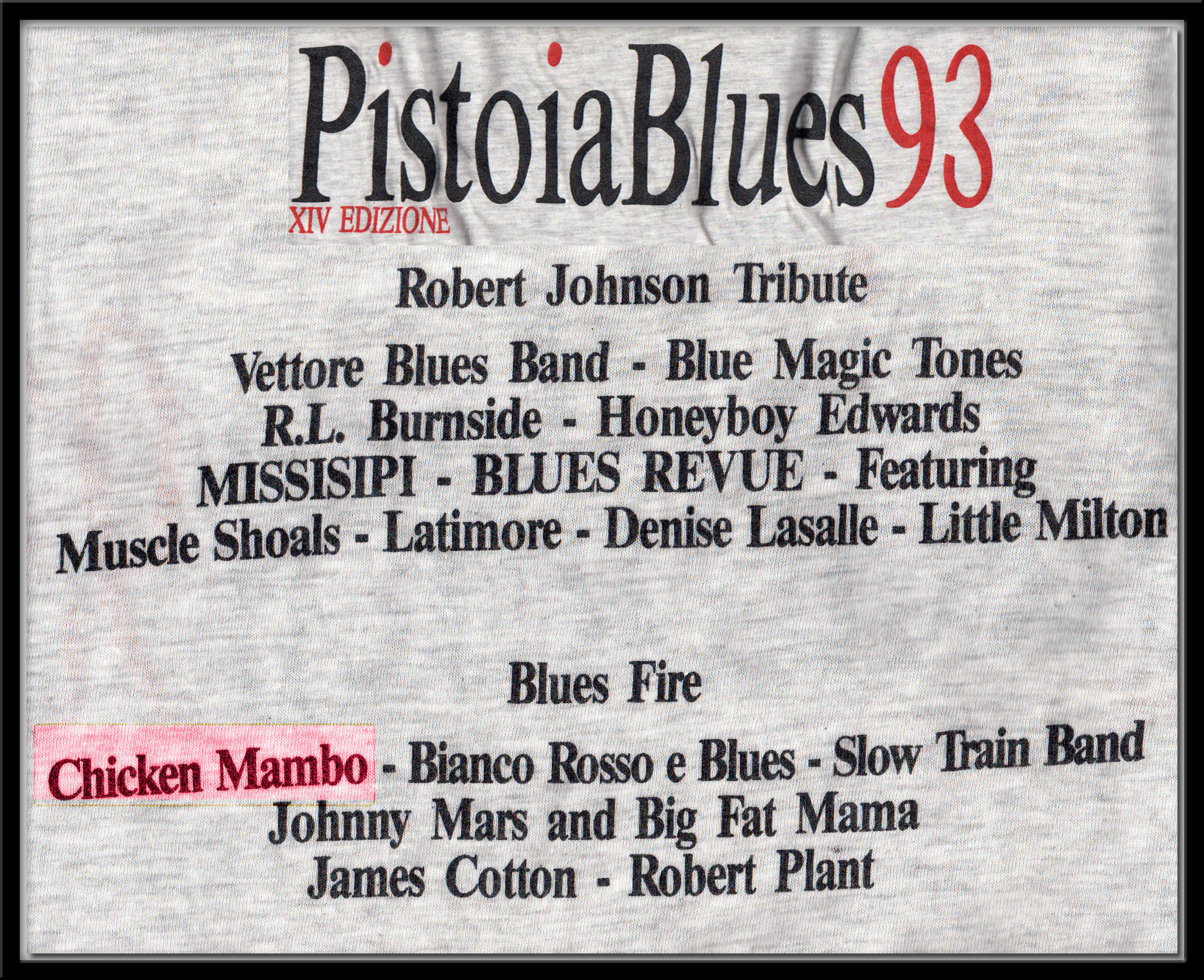 Pistoia Blues 93 T shirt