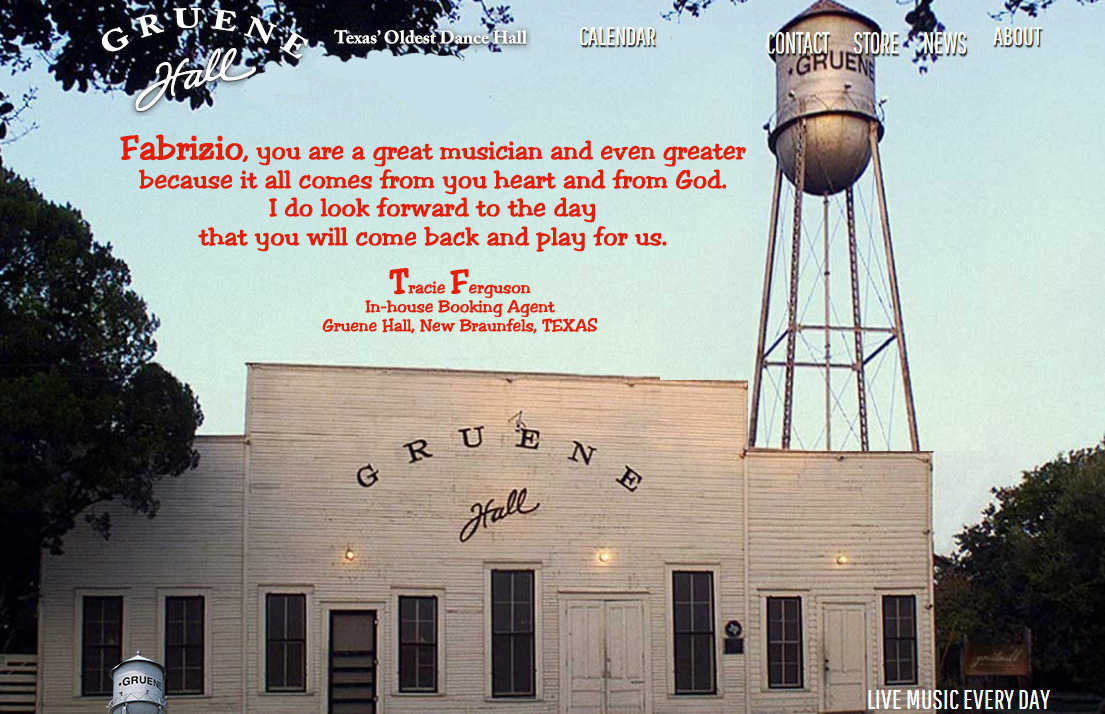 Tracie Ferguson In-House Booking Agent Gruene Hall New Braunfels, Texas
