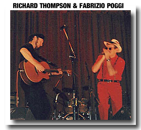 Richard Thompson and Fabrizio Poggi live (1994) photo by Giulio Bianchi