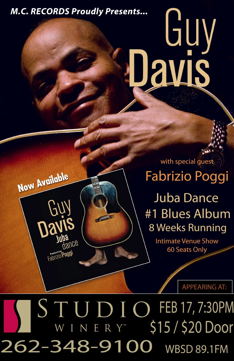 GUY DAVIS & FABRIZIO POGGI 2014 USA TOUR live at STUDIO WINERY - Lake Geneva, Wisconsin