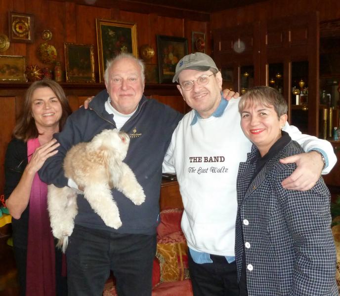 Susan Walker, Bear, Jerry Jeff Walker, Fabrizio Poggi and Angelina - Austin, Texas