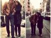 Bob Dylan & Suze Rotolo 1963 - Jones Street, Greenwich Village, NY Fabrizio & Angelina 2018 - same street same place