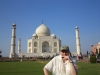 Fabrizio Poggi plays harmonica in front of Taj Mahal - Agra, India