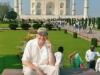 Fabrizio Poggi and his harmonica in front of Taj Mahal - Agra, India