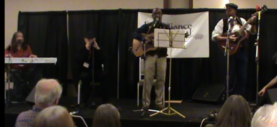 Radoslav Lorkovic Fabrizio Poggi Josh White Jr Guy Davis Folk Alliance 2014 Kansas City MO