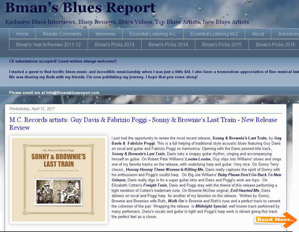 Recensione BMAN Blues Report