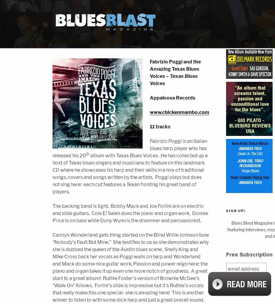 Recensione BluesBlast Texas Blues Voices