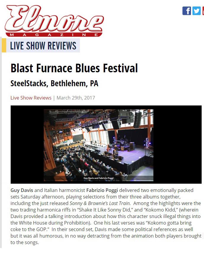 Recensione Concerto Blast Furnace Blues Festival