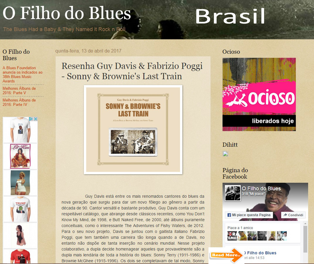 Recensione O Filo do Blues Brasil