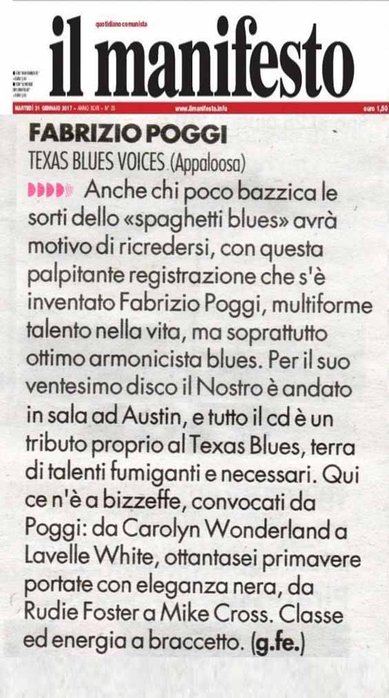 Recensione Texas Blues Voices Manifesto