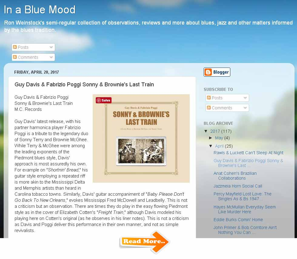 recensione in a Blue Mood