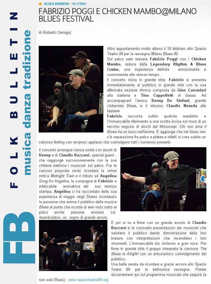 Recensione concerto Spazio 89 su Folk Bulletin