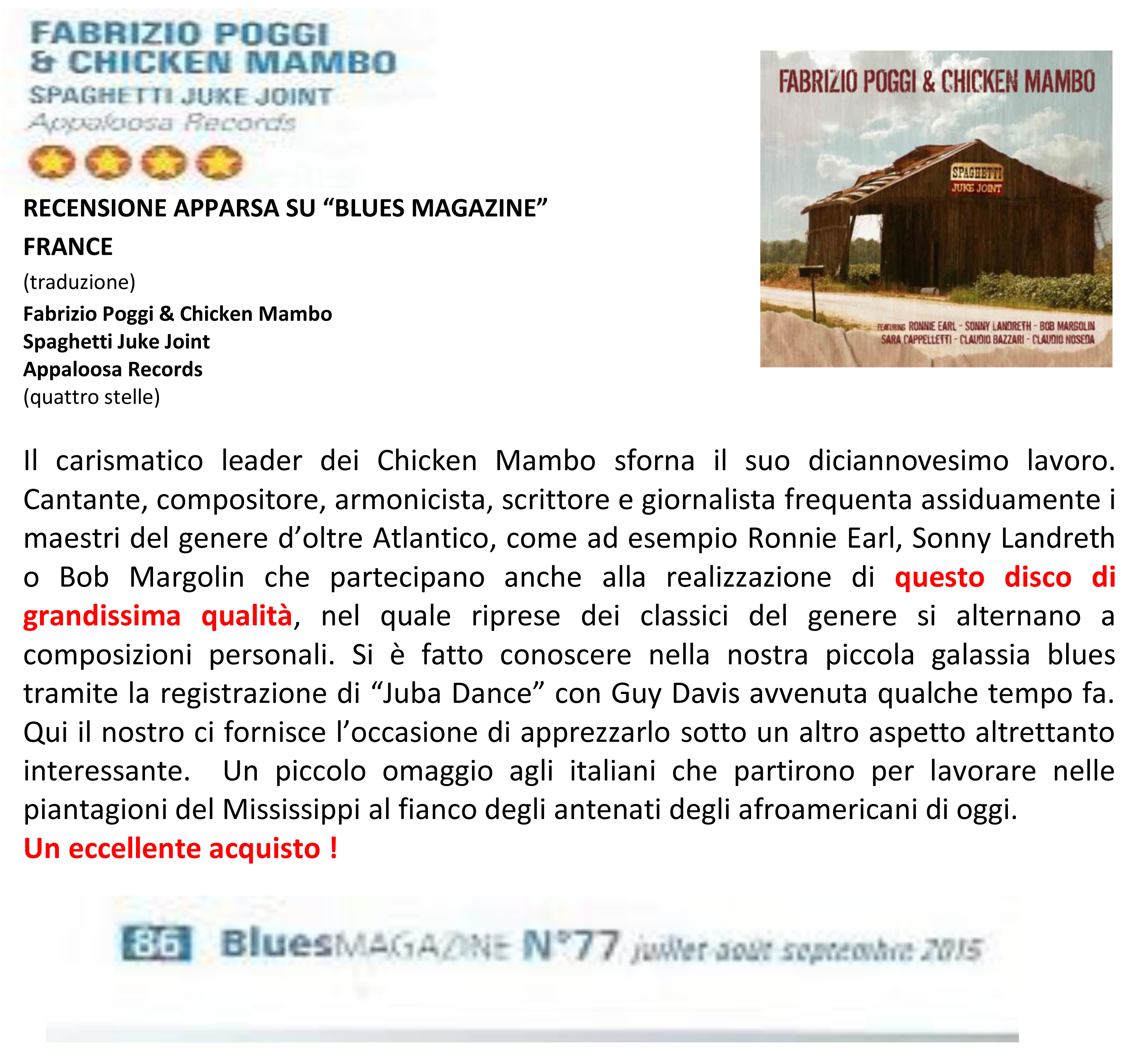 RECENSIONE APPARSA SU BLUES MAGAZINE   FRANCE copia