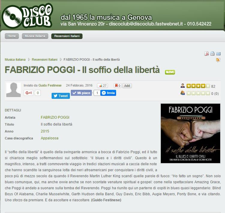 Recensione Il soffio della libertà su discoclub65 di Guido Festinese