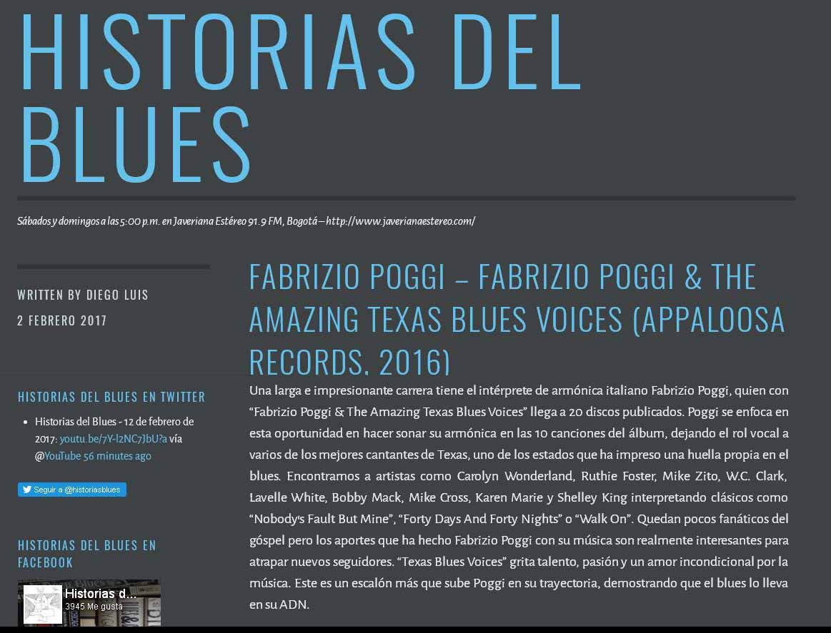 Recensione Texas Blues Voices Historia del Blues